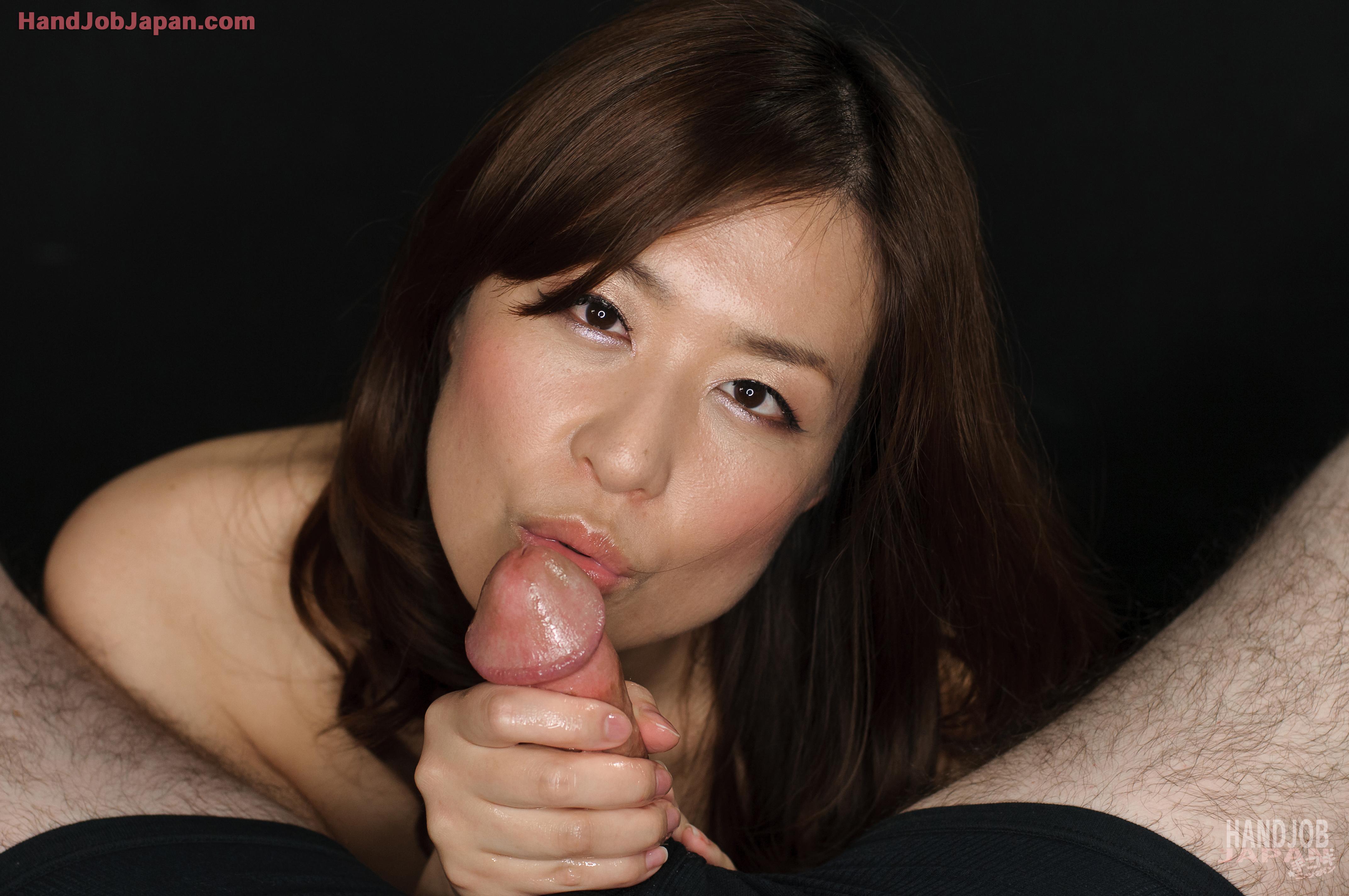 handjob japan 手コキ Saori Hirako Handjob ...